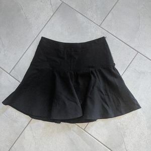 Sunday Best Black Tulip Front Skirt Side Zip